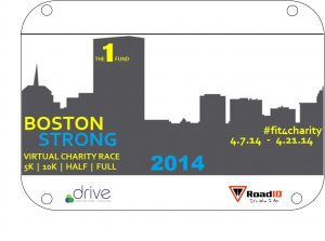 Virtual bib for runner Debbie Schallock, 2014 Boston Marathon