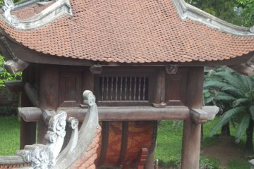 Part of the Temple of Literature in Hanoi Vietnam