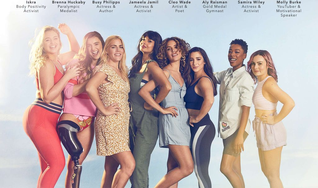 Women models pose next to each other for the #AerieREAL campaign